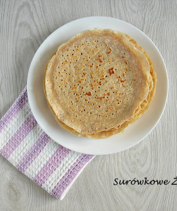 Naleśniki z dodatkiem mąki razowej na słodko lub słono - Mączne