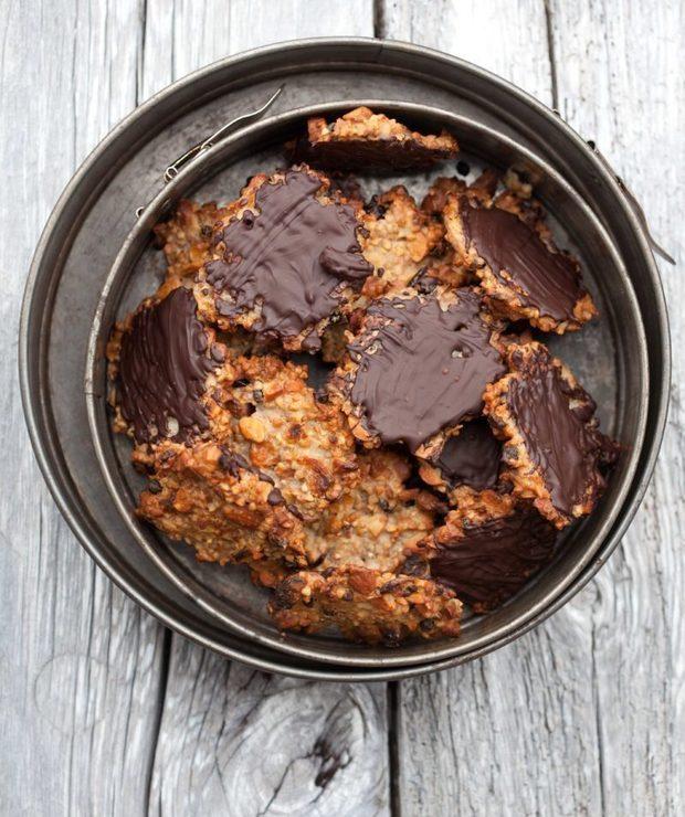 Florentynki z kaszą gryczaną, żurawiną i czekoladą - Ciastka