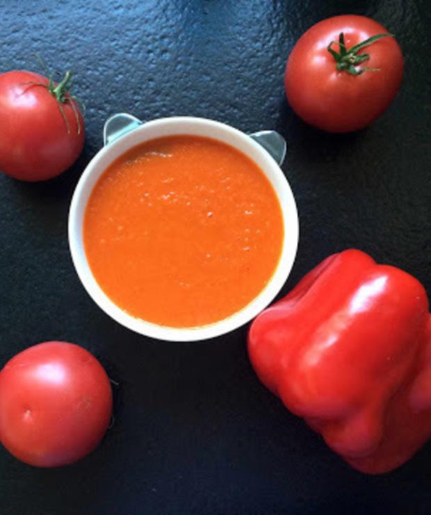 Cream of roasted peppers and tomatoes soup - zupa krem z pieczonej papryki i pomidorów  - Kremy