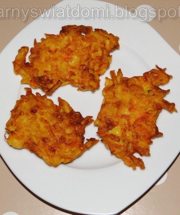 Placuszki dyniowe z marchewką i ziemniakiem - Na gorąco