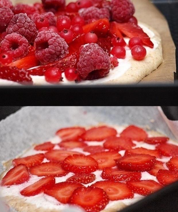 Drożdżowa pizza na słodko - Drożdżówki