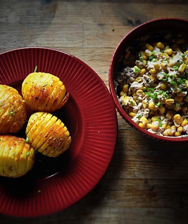 Pieczone ziemniaki a'la jacket potato - Tuńczyk