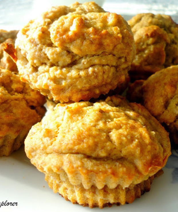 Proste muffinki bananowe - Desery i ciasta