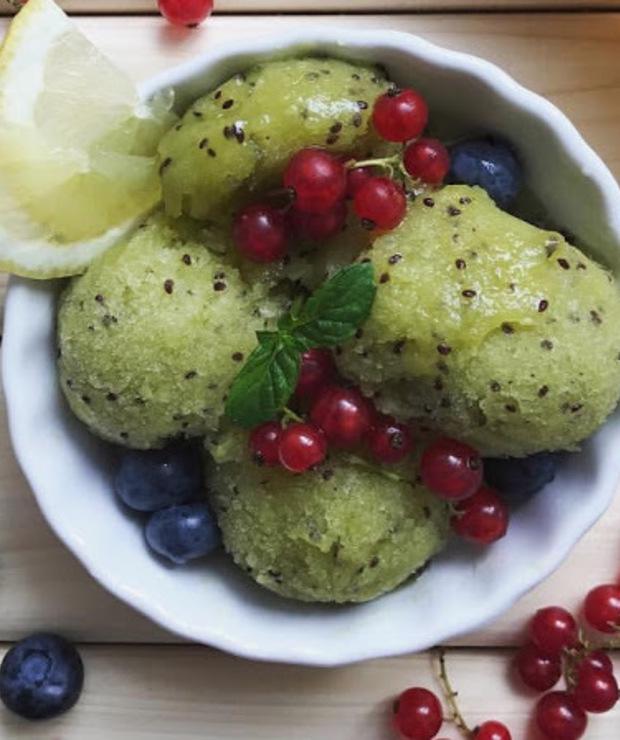 kiwi + cytryna + miód - Lody