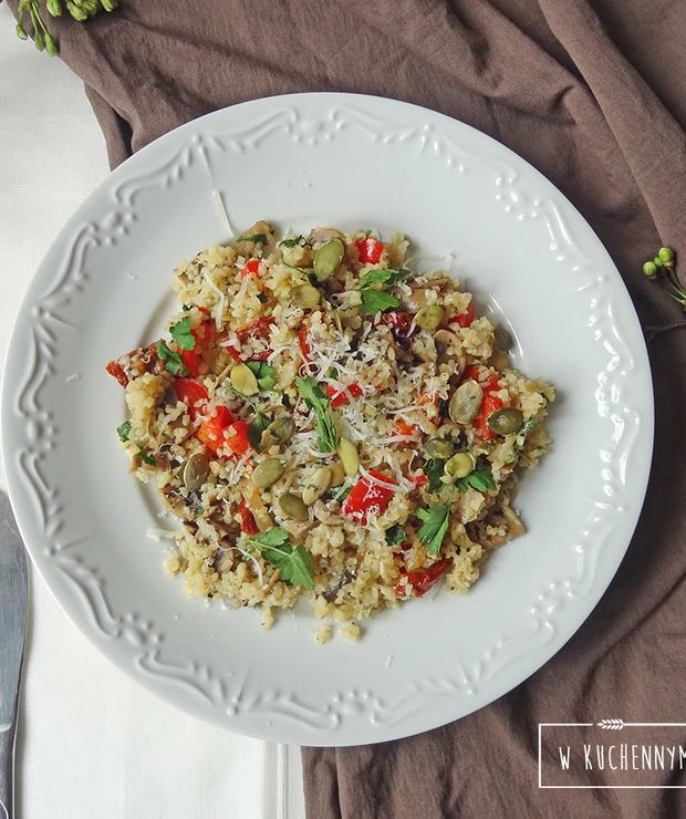 Kasza bulgur z pieczarkami - Dania z ryżu i kaszy