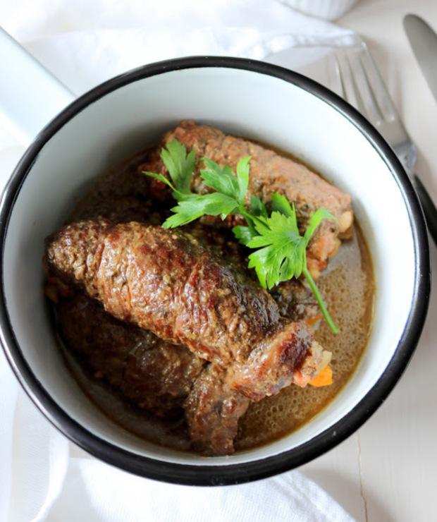 Rolady wołowe z białą kiełbasą  - Wołowina