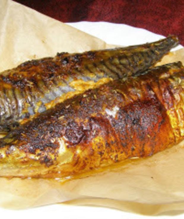 świeża makrela pysznie upieczona:Airfryer hd9240/30 - Makrela