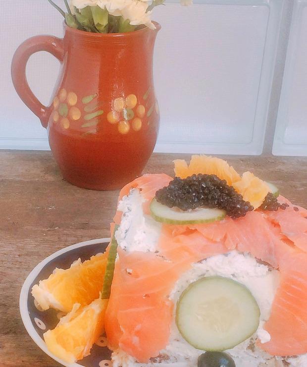 Tort kanapkowy z tuńczykiem i sardynkami - Na zimno