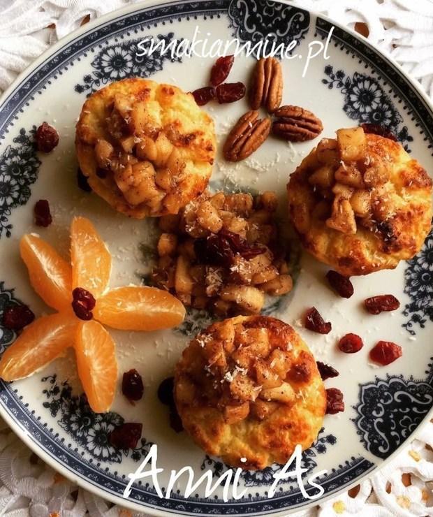 Muffinki twarogowo- bananowe z kokosem - Muffiny i babeczki