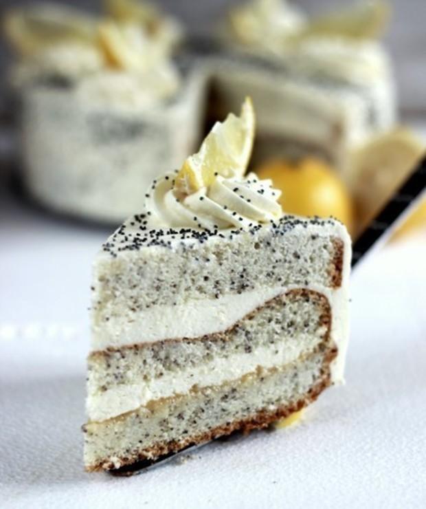 Tort makowo – cytrynowy/ Poppy seed lemon cake - Torty