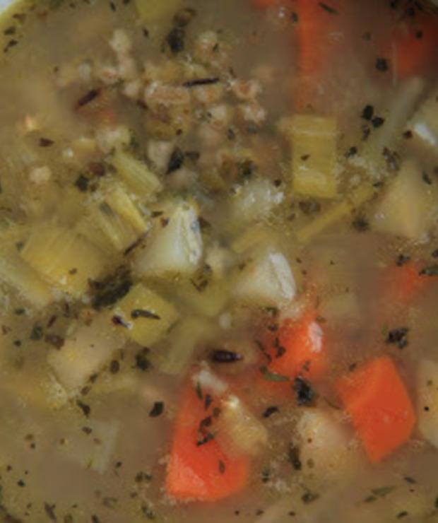 Zupa z fasoli mung - Z warzywami