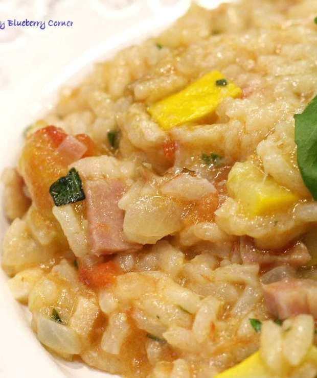 Pomidorowe risotto z cukinią - Dania z ryżu i kaszy