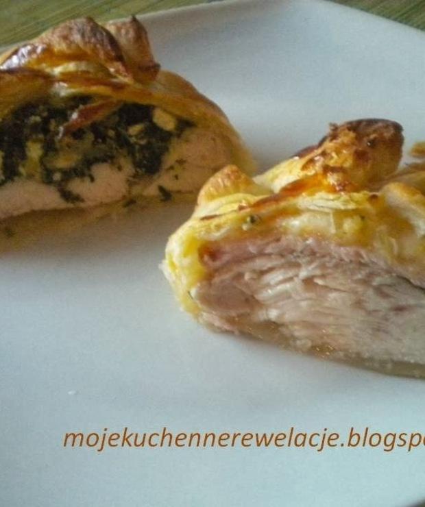 Kurczak w cieście francuskim na dwa sposoby - Drób