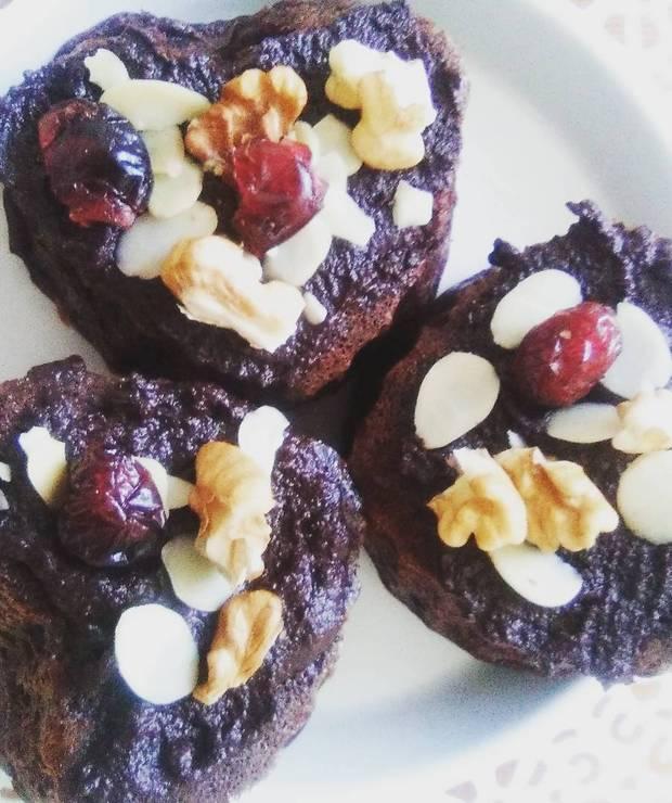 """Muffiny """"czekoladowe"""" z czerwonej fasoli - Muffiny i babeczki"""