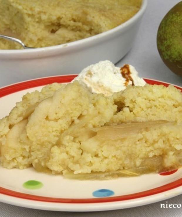 Jaglana zapiekanka z jabłkami i gruszkami - Dania z ryżu i kaszy