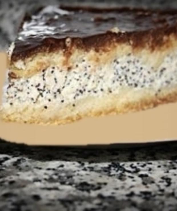 Proste ciasto z kremem twarogowo - makowym - Kruche