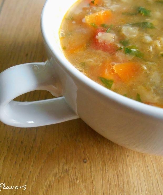 Zupa z czerwonej soczewicy - Z warzywami