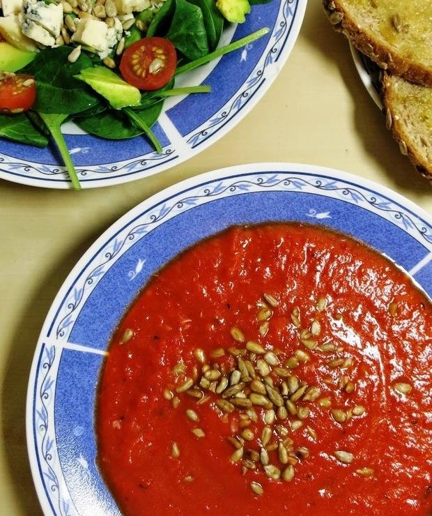 Zupa krem z pieczonej papryki - Kremy