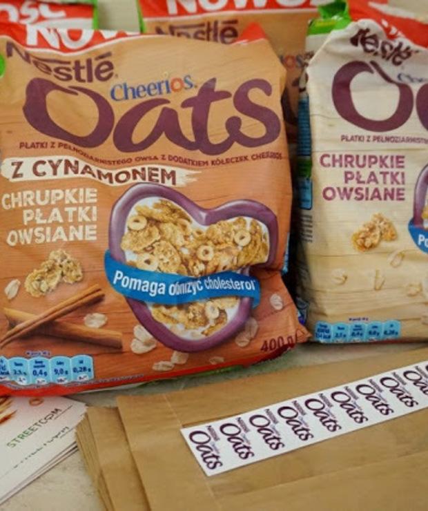 Paczka Ambasadorki od Streetcom, a w niej chrupiące owsiane Nestle Cheerios Oats - Produkty