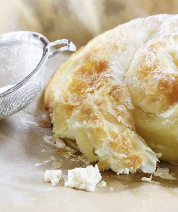 Serowe gniazdko z ciasta francuskiego - Ciastka