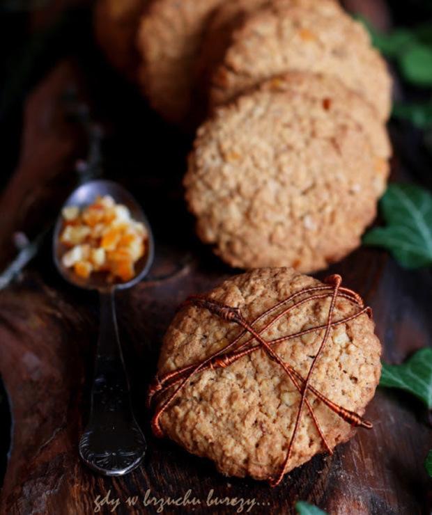 Pomarańczowe ciastka owsiane - Ciastka