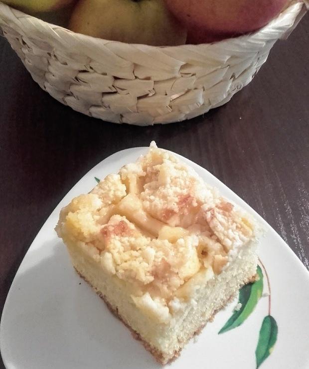 Ciasto zagniatane z jabłkami. - Inne