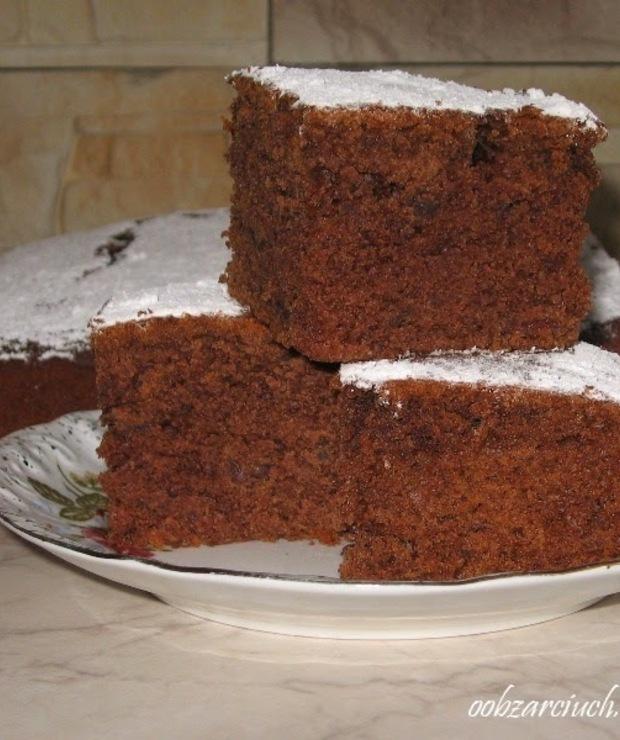 Ciasto z powidłami - Biszkopty