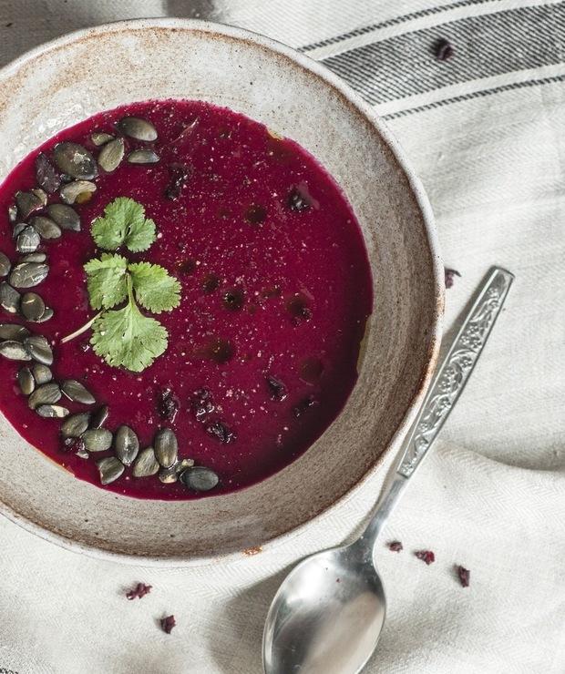 Zupa krem z buraków z aromatem skórki cytrynowej - Kremy