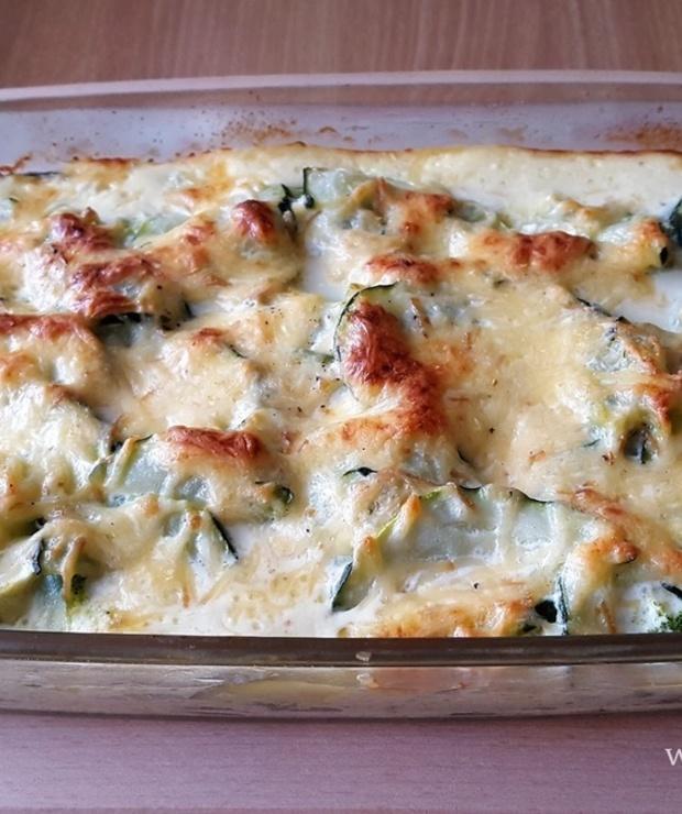 Zapiekanka z cukinii i brokułów - Warzywa