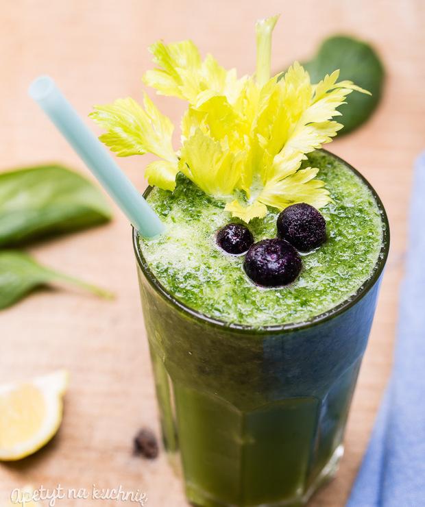 Zielony koktajl warzywny - Zimne