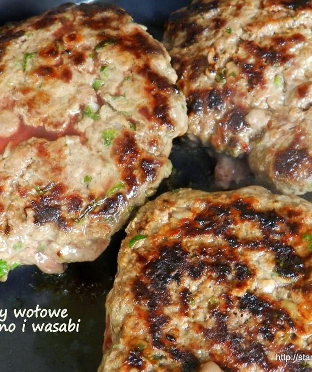 Burgery wołowe z jalapeno i wasabi - Wołowina