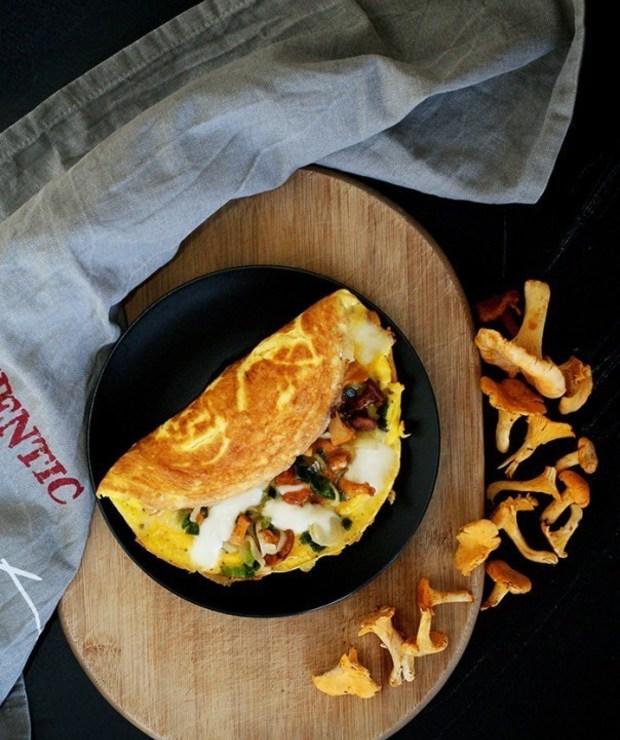Omlet z kurkami - Jajka i omlety