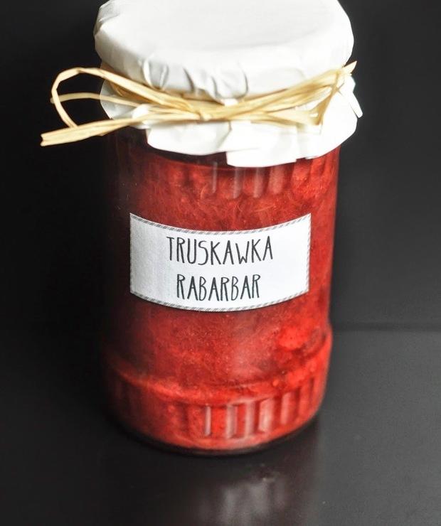Dżem truskawkowo-rabarbarowy z cynamonem - Owocowe