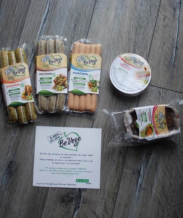Współpraca z BeVege- paczka stworzona dla wegan - Produkty