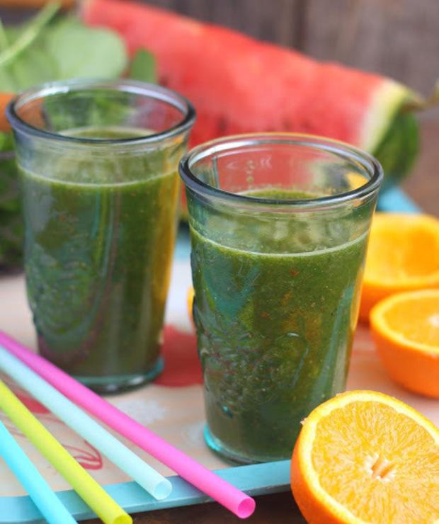Zielone smoothie ARBUZ+POMARAŃCZA+SZPINAK - Zimne
