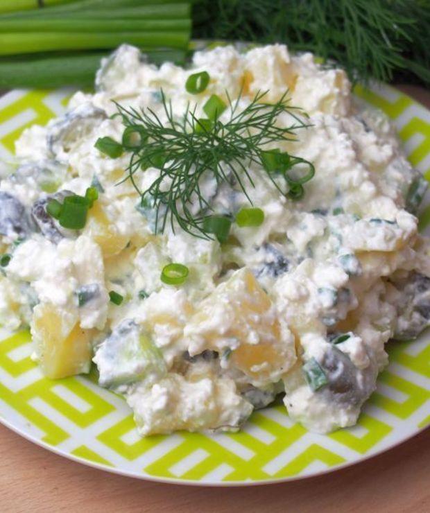Sałatka ziemniaczana z twarogiem - idealna do grilla - Jarskie