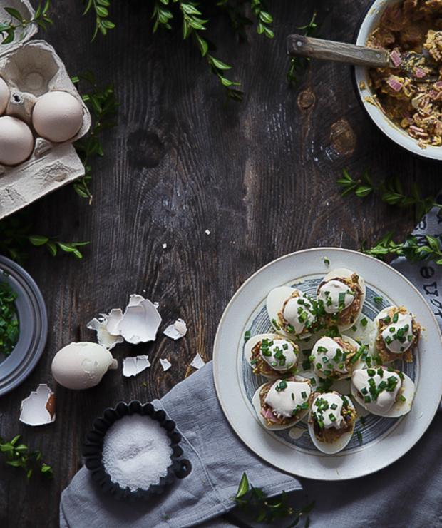 Jajka faszerowane - Jajka i omlety