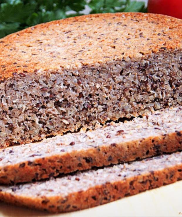 Chleb gryczany z siemieniem lnianym - Chleby