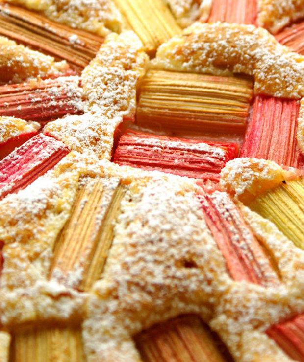 Ciasto z rabarbarem - Drożdżowe