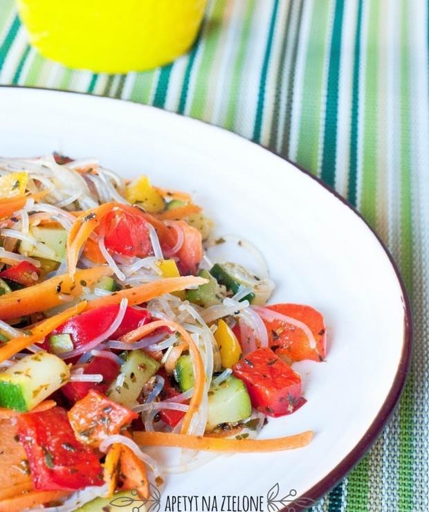 Makaron sojowy z warzywami. 15 minut! - Dania z makaronu