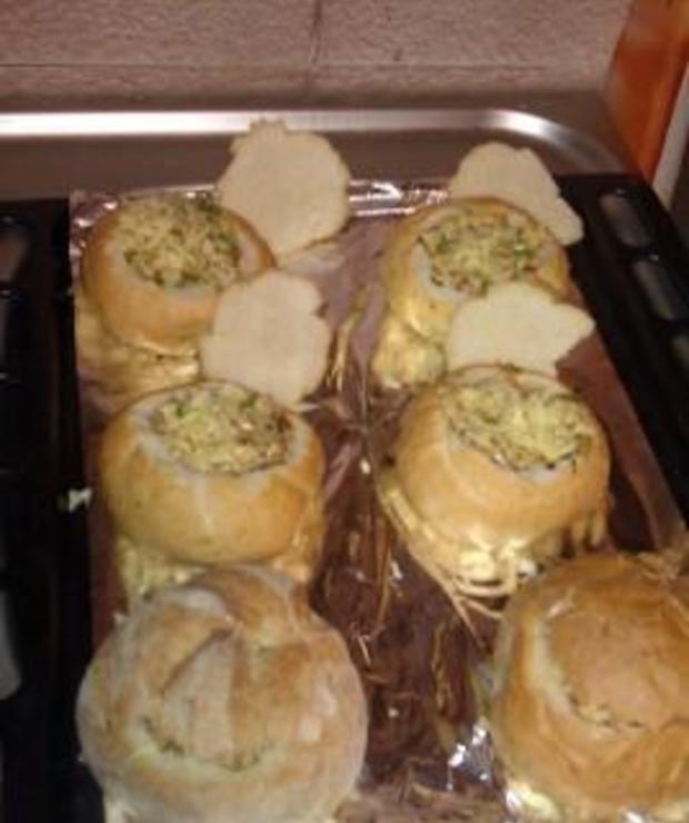 Bułki zapiekane w piekarniku - Na gorąco