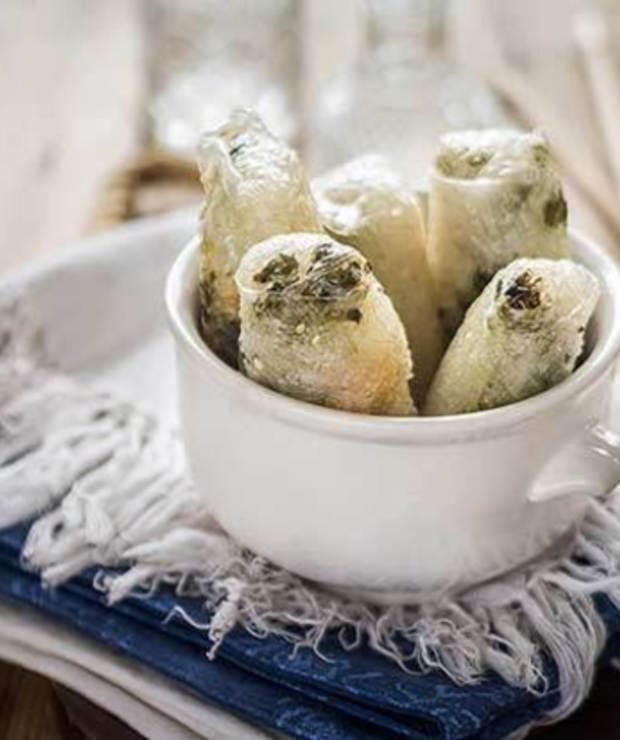 Sajgonki z groszkiem i krewetkami - Na gorąco