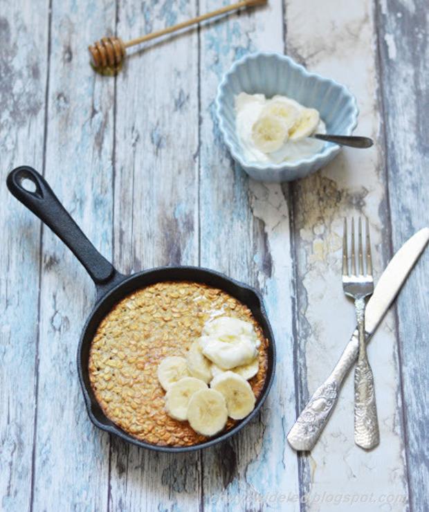 Pieczona owsianka z bananem  - Musli i podobne
