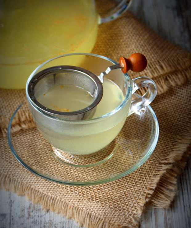 Napój na przeziębienie z imbiru - Gorące