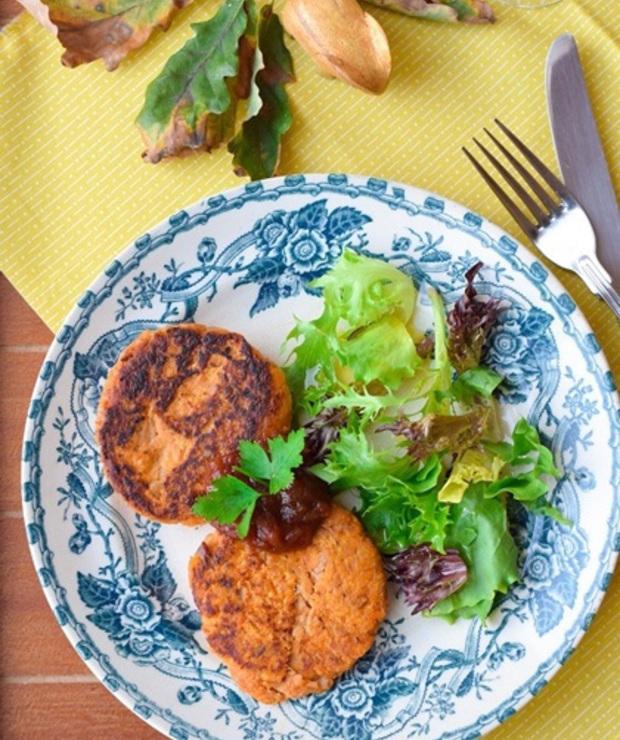 Tajskie kotlety z tuńczyka i batatów - Warzywa