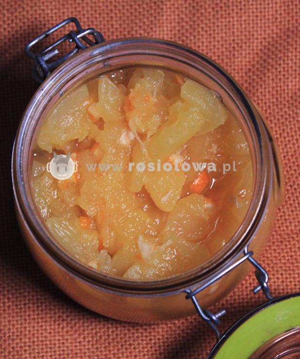 Dżem z cukinii z cytryną i kandyzowaną skórka z pomarańczy - Warzywne