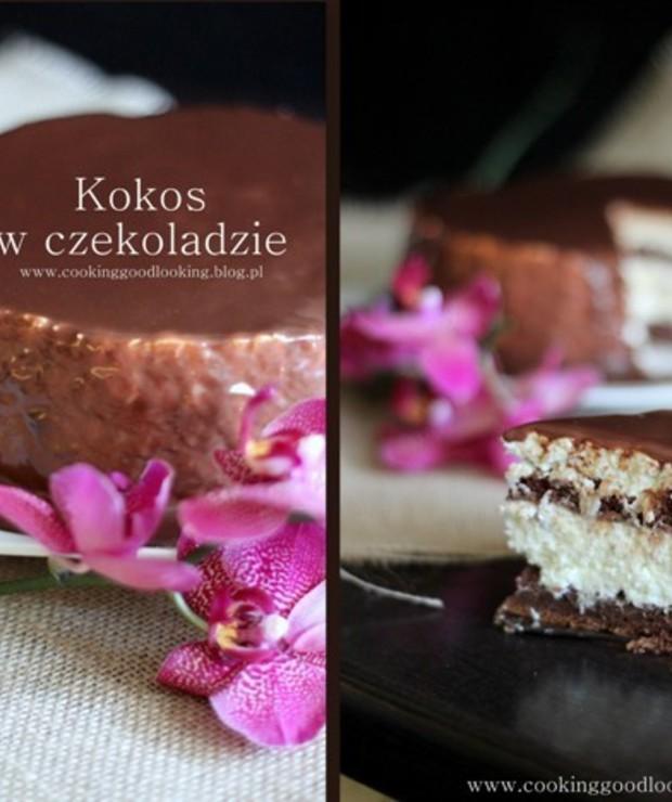 Torcik 'Kokos w czekoladzie' - Torty