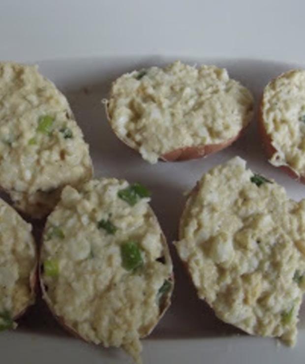 Dietetyczne jajka faszerowane - Na gorąco