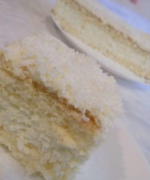 Ciasto kokosowo-cytrynowe - Biszkopty