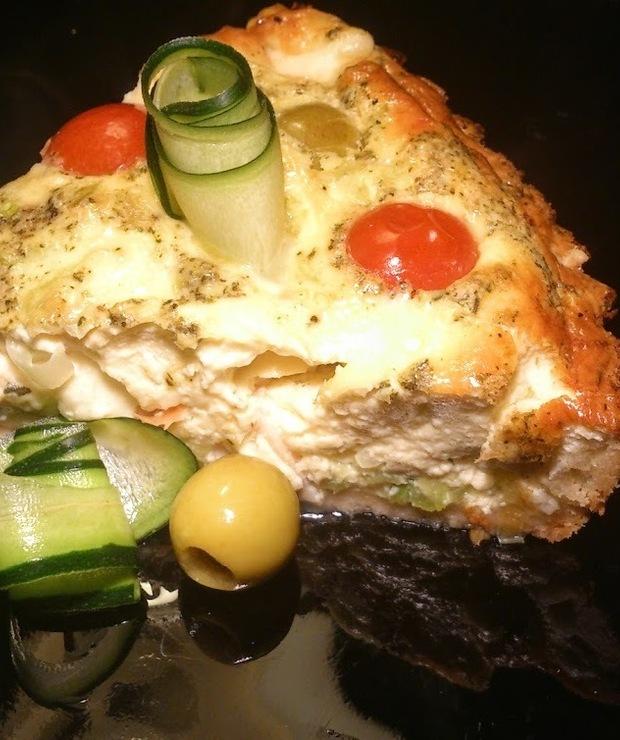 Tarta z wędzonym łososiem i cukinią - Tarty wytrawne